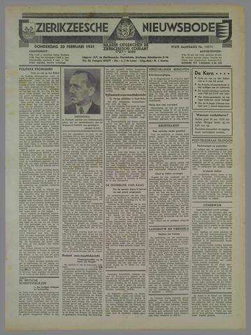Zierikzeesche Nieuwsbode 1941-02-20