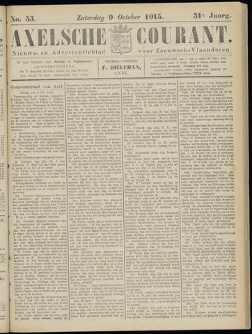 Axelsche Courant 1915-10-09