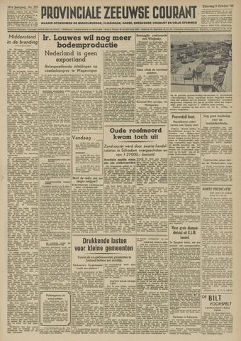 Provinciale Zeeuwse Courant 1948-10-09