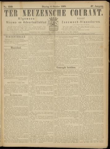 Ter Neuzensche Courant. Algemeen Nieuws- en Advertentieblad voor Zeeuwsch-Vlaanderen / Neuzensche Courant ... (idem) / (Algemeen) nieuws en advertentieblad voor Zeeuwsch-Vlaanderen 1908-10-06