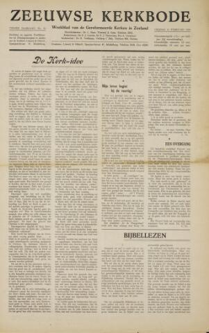 Zeeuwsche kerkbode, weekblad gewijd aan de belangen der gereformeerde kerken/ Zeeuwsch kerkblad 1955-02-11