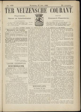 Ter Neuzensche Courant. Algemeen Nieuws- en Advertentieblad voor Zeeuwsch-Vlaanderen / Neuzensche Courant ... (idem) / (Algemeen) nieuws en advertentieblad voor Zeeuwsch-Vlaanderen 1880-06-23