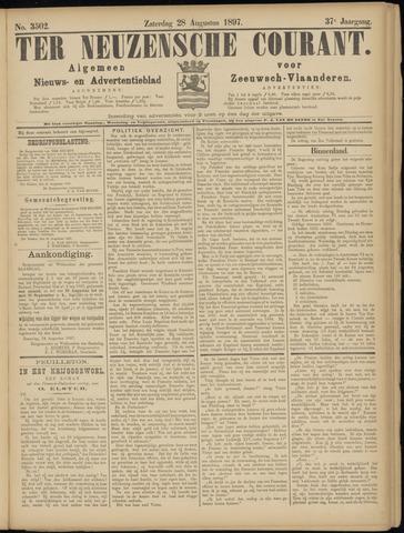 Ter Neuzensche Courant. Algemeen Nieuws- en Advertentieblad voor Zeeuwsch-Vlaanderen / Neuzensche Courant ... (idem) / (Algemeen) nieuws en advertentieblad voor Zeeuwsch-Vlaanderen 1897-08-28