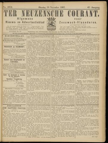 Ter Neuzensche Courant. Algemeen Nieuws- en Advertentieblad voor Zeeuwsch-Vlaanderen / Neuzensche Courant ... (idem) / (Algemeen) nieuws en advertentieblad voor Zeeuwsch-Vlaanderen 1907-11-19