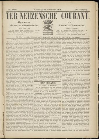 Ter Neuzensche Courant. Algemeen Nieuws- en Advertentieblad voor Zeeuwsch-Vlaanderen / Neuzensche Courant ... (idem) / (Algemeen) nieuws en advertentieblad voor Zeeuwsch-Vlaanderen 1878-11-20