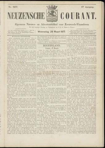 Ter Neuzensche Courant. Algemeen Nieuws- en Advertentieblad voor Zeeuwsch-Vlaanderen / Neuzensche Courant ... (idem) / (Algemeen) nieuws en advertentieblad voor Zeeuwsch-Vlaanderen 1877-03-28