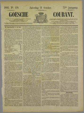 Goessche Courant 1885-10-31