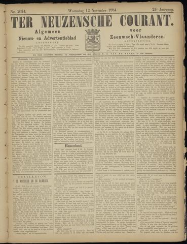 Ter Neuzensche Courant. Algemeen Nieuws- en Advertentieblad voor Zeeuwsch-Vlaanderen / Neuzensche Courant ... (idem) / (Algemeen) nieuws en advertentieblad voor Zeeuwsch-Vlaanderen 1884-11-12