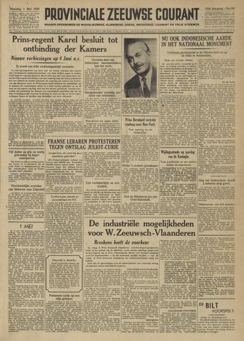 Provinciale Zeeuwse Courant 1950-05-01