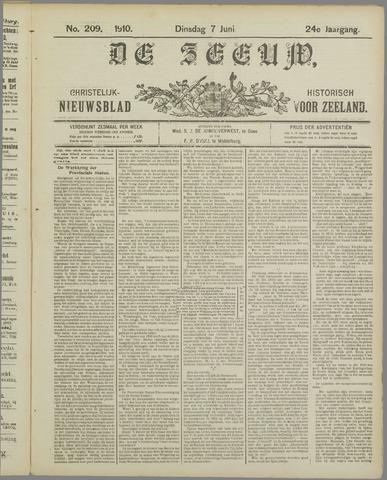 De Zeeuw. Christelijk-historisch nieuwsblad voor Zeeland 1910-06-07