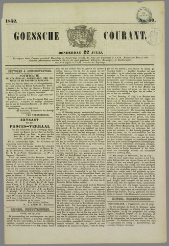 Goessche Courant 1852-07-22