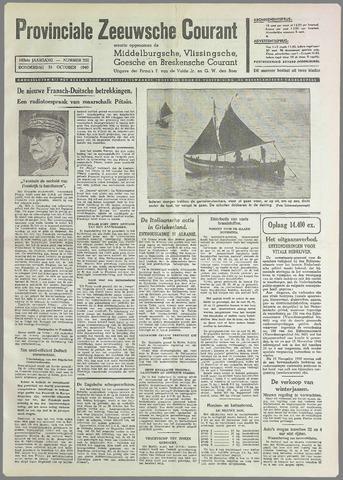 Provinciale Zeeuwse Courant 1940-10-31