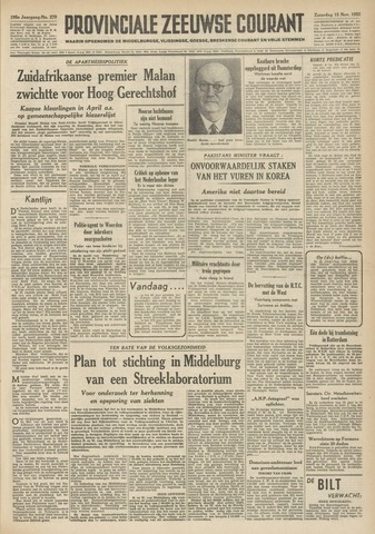 Provinciale Zeeuwse Courant 1952-11-15