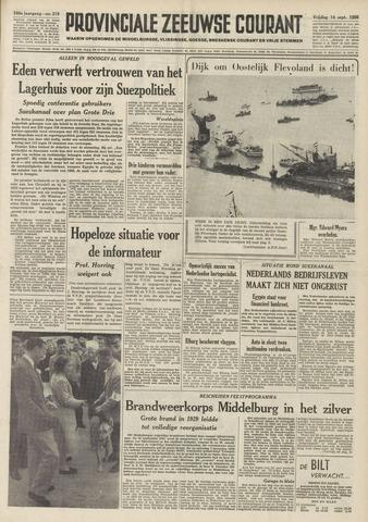 Provinciale Zeeuwse Courant 1956-09-14