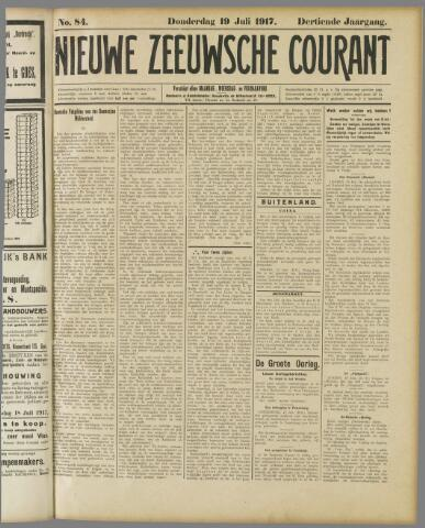 Nieuwe Zeeuwsche Courant 1917-07-19