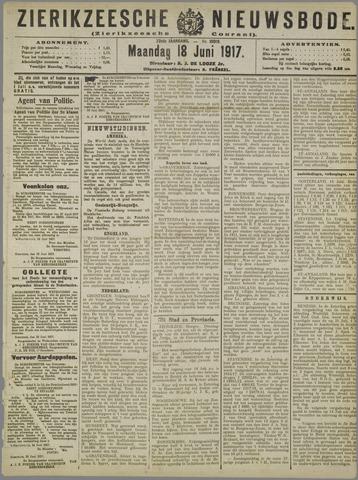 Zierikzeesche Nieuwsbode 1917-06-18