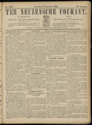 Ter Neuzensche Courant. Algemeen Nieuws- en Advertentieblad voor Zeeuwsch-Vlaanderen / Neuzensche Courant ... (idem) / (Algemeen) nieuws en advertentieblad voor Zeeuwsch-Vlaanderen 1902-09-20
