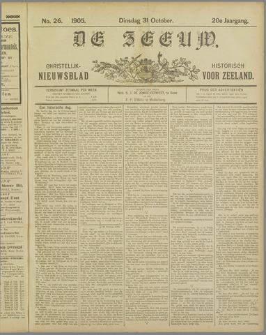 De Zeeuw. Christelijk-historisch nieuwsblad voor Zeeland 1905-10-31