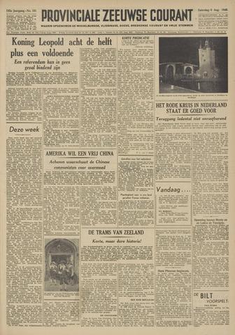 Provinciale Zeeuwse Courant 1949-08-06