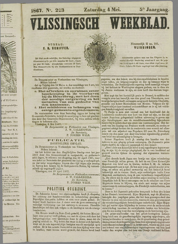Vlissings Weekblad 1867-05-04