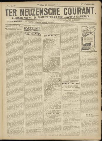Ter Neuzensche Courant. Algemeen Nieuws- en Advertentieblad voor Zeeuwsch-Vlaanderen / Neuzensche Courant ... (idem) / (Algemeen) nieuws en advertentieblad voor Zeeuwsch-Vlaanderen 1927-01-28
