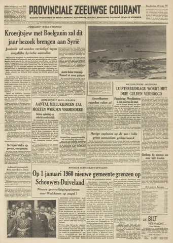 Provinciale Zeeuwse Courant 1957-08-29