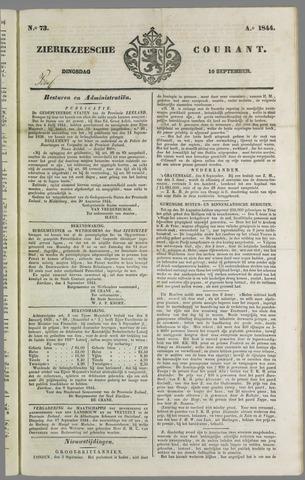 Zierikzeesche Courant 1844-09-10