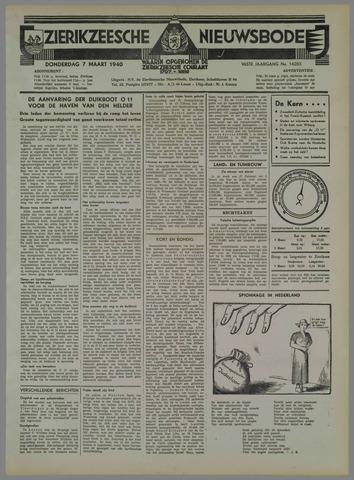 Zierikzeesche Nieuwsbode 1940-03-07