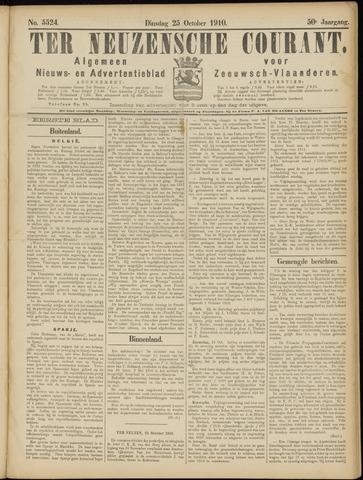 Ter Neuzensche Courant. Algemeen Nieuws- en Advertentieblad voor Zeeuwsch-Vlaanderen / Neuzensche Courant ... (idem) / (Algemeen) nieuws en advertentieblad voor Zeeuwsch-Vlaanderen 1910-10-25
