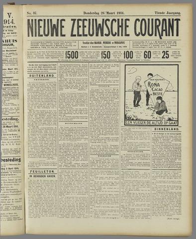 Nieuwe Zeeuwsche Courant 1914-03-26
