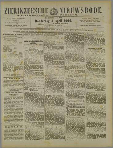 Zierikzeesche Nieuwsbode 1906-04-05
