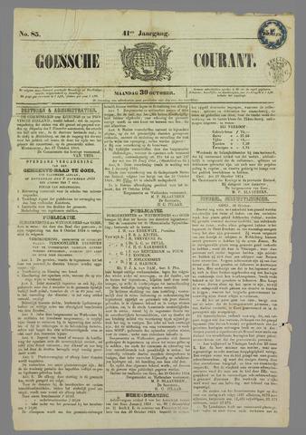 Goessche Courant 1854-10-30