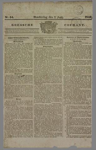 Goessche Courant 1842-07-07