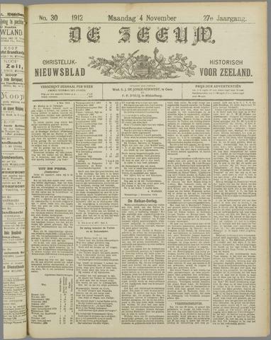 De Zeeuw. Christelijk-historisch nieuwsblad voor Zeeland 1912-11-04