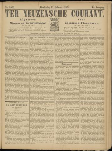 Ter Neuzensche Courant. Algemeen Nieuws- en Advertentieblad voor Zeeuwsch-Vlaanderen / Neuzensche Courant ... (idem) / (Algemeen) nieuws en advertentieblad voor Zeeuwsch-Vlaanderen 1898-02-17