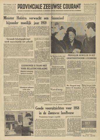 Provinciale Zeeuwse Courant 1958-04-10