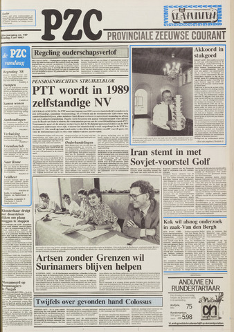 Provinciale Zeeuwse Courant 1987-07-07