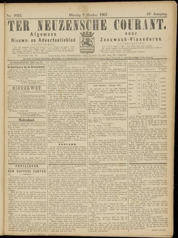 Ter Neuzensche Courant. Algemeen Nieuws- en Advertentieblad voor Zeeuwsch-Vlaanderen / Neuzensche Courant ... (idem) / (Algemeen) nieuws en advertentieblad voor Zeeuwsch-Vlaanderen 1907-10-08