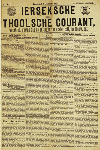 Ierseksche en Thoolsche Courant 1901