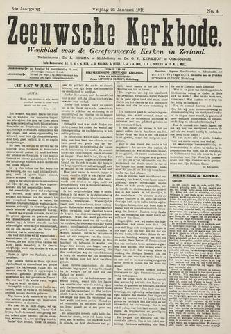 Zeeuwsche kerkbode, weekblad gewijd aan de belangen der gereformeerde kerken/ Zeeuwsch kerkblad 1918-01-25