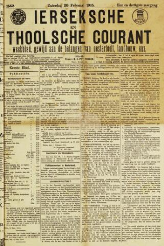 Ierseksche en Thoolsche Courant 1915-02-20