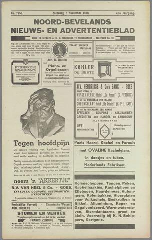 Noord-Bevelands Nieuws- en advertentieblad 1936-11-07