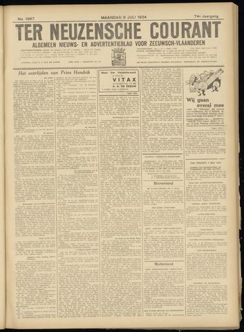Ter Neuzensche Courant. Algemeen Nieuws- en Advertentieblad voor Zeeuwsch-Vlaanderen / Neuzensche Courant ... (idem) / (Algemeen) nieuws en advertentieblad voor Zeeuwsch-Vlaanderen 1934-07-09