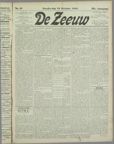 De Zeeuw. Christelijk-historisch nieuwsblad voor Zeeland 1920-10-14