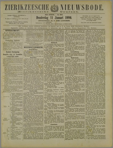 Zierikzeesche Nieuwsbode 1906-01-11