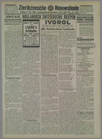 Zierikzeesche Nieuwsbode 1933-10-13