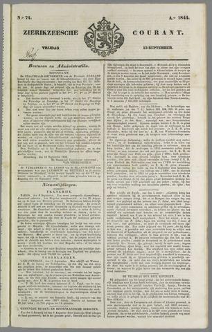 Zierikzeesche Courant 1844-09-13