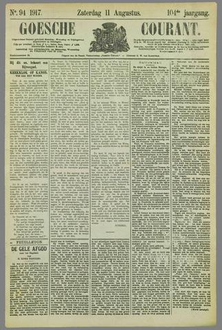 Goessche Courant 1917-08-11