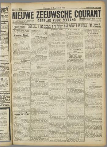 Nieuwe Zeeuwsche Courant 1922-09-23
