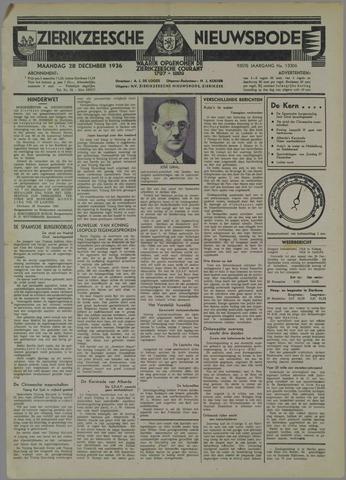 Zierikzeesche Nieuwsbode 1936-12-28